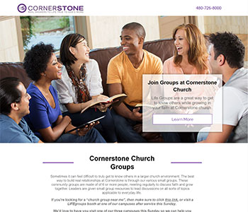 Life Groups church landing pages